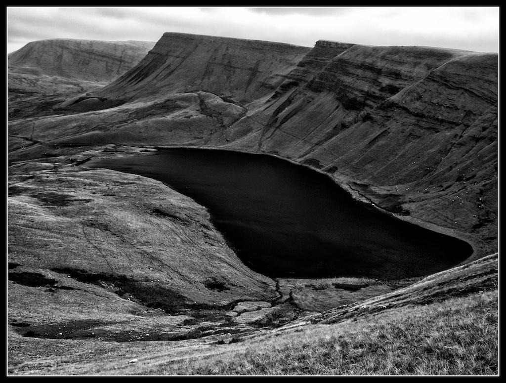 Bannau Sir Gaer ridge and Llyn y FanFach