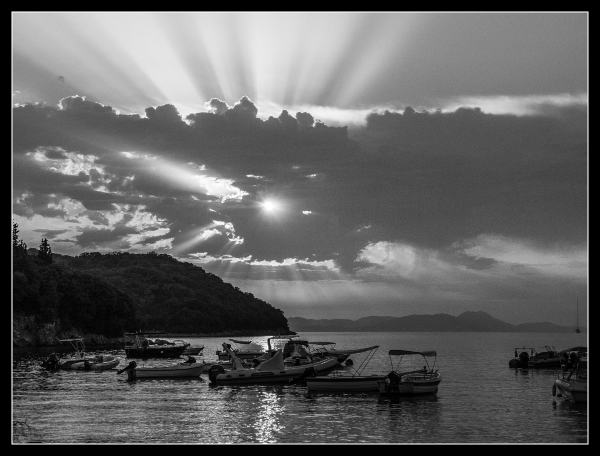 Approaching sunset, Syvota,Greece